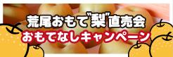 荒尾梨でおもてなしキャンペーン